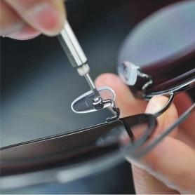 Lot 2X Porte Clé outils tournevis de précision 3 en 1 Lunettes Montre Téléphone