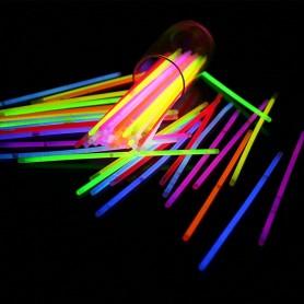20X Bâtons Lumineux Stick à craquer Bracelet Collier Fluorescent Fête Mariage
