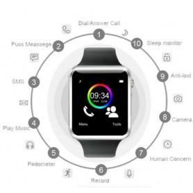 Montre Bracelet Smart Watch Connectée Bluetooth GPS Sport Podomètre Camera SMS