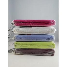 Lot de 2X Drap Housse 90 x 190 cm Lit 1 personne Coton et polyester 5 couleurs