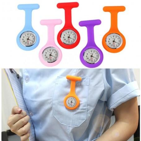 Montre Silicone Infirmière Broche Poche Pratique Inoxydable Médecin Médical Mode