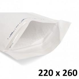 10X Enveloppe Bulles Matelassées Blanches 220x260mm 22x26cm E/5 K7 Livre