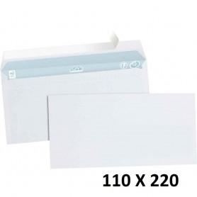 20X Enveloppe Blanches Courrier Auto-Adhésives 110x220mm 11x22cm DL SF