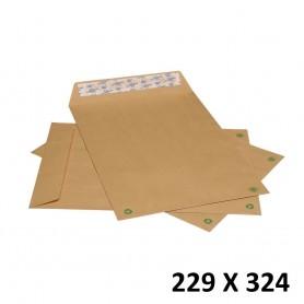 10X Enveloppe Kraft Courrier Auto-Adhésives Brun 229x324mm 22,9x32,4cm C4 A4