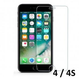Verre Trempé 9H 2,5D pour écran Iphone 4 4S Protecteur Vitre Anti Rayure Eclat