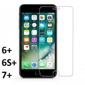 Verre Trempé 9H 2,5D pour écran Iphone 6+ 6S+ 7+ Plus Protecteur Vitre Rayure