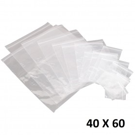 Lot 50X Sachet Zip Plastique 40x60mm 4x6cm Transparent Pochon Pochette 50u