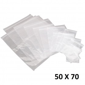 Lot 50X Sachet Zip Plastique 50x70mm 5x7cm Transparent Pochon Pochette 50u