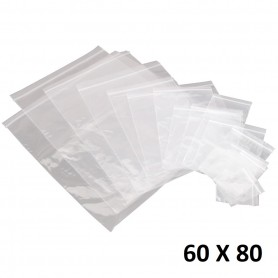Lot 100X Sachet Zip Plastique 60x80mm 6x8cm Transparent Pochon Pochette 50u