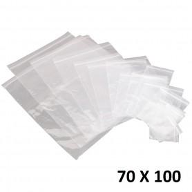 10X Sachet Zip Plastique 70x100mm 7x10cm Transparent Pochon Pochette 50u