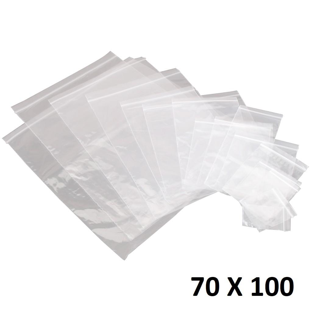 Lot de 1000 sachets Zip plastique 70 x 100 mm