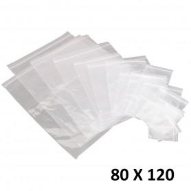 10X Sachet Zip Plastique 80x120mm 8x12cm Transparent Pochon Pochette 50u