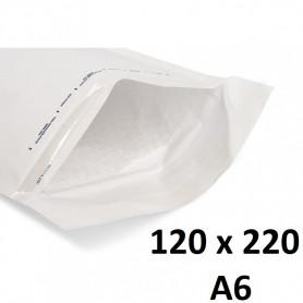 20X Enveloppe Bulles Matelassées Blanches 120x220mm 12x22cm B/2 A6 Bulle