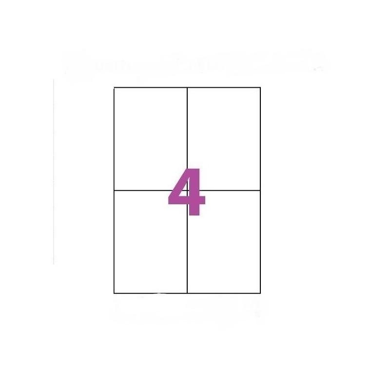 50X Feuille Autocollante Papier 200 étiquettes 104x148mm A6 soit 4 par Planche