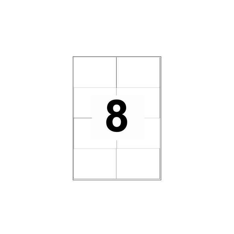 10X Feuille Autocollante Papier 80 étiquettes 105x74mm A7 soit 8 par Planche