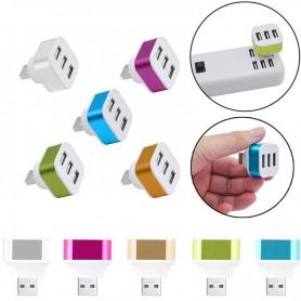 Hub 3 Ports USB 2.0 3,1V par port Splitter USB Ordinateur PC Portable