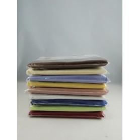 Taie d'oreiller housse 65 x 65 cm Coton et polyester Couleur au choix
