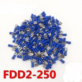 Lot 50x Cosse électrique Plate 6,3mm Bleue Femelle Connecteur 1,5 à 2,5 mm