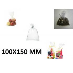 10X Sachet Zip Plastique Alimentaire PEBD 100x150mm 10x15cm Transparent 50u
