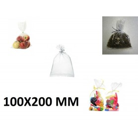10X Sachet Zip Plastique Alimentaire PEBD 100x200mm 10x20cm Transparent 50u