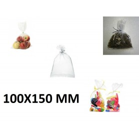 100X Sachet Zip Plastique Alimentaire PEBD 100x150mm 10x15cm Transparent 50u