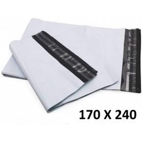 10X Enveloppe Plastique 170x240+40mm Adhésif Blanche Opaque Indéchirable 60u