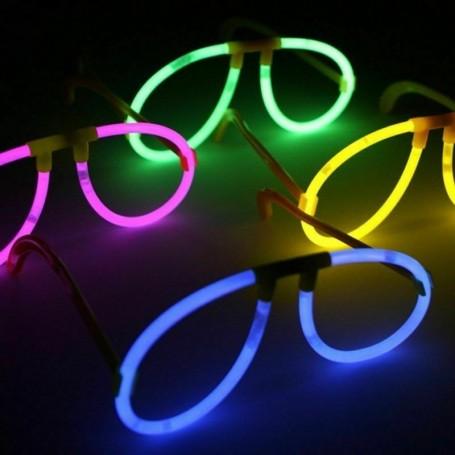 Paire de Lunettes Stick Lumineuses Aviateur Fête Luminescentes Fluorescentes