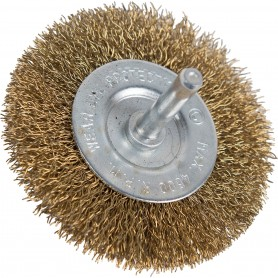 Roue Brosse Rotative Circulaire en Fil d'Acier 100 mm pour Perceuse Polissage