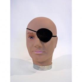 Cache Oeil Bandeau de Pirate Borgne 8 x 6 cm Noir Déguisement Halloween Party