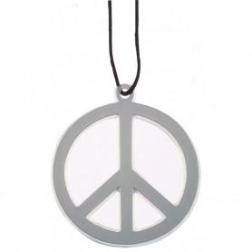 Collier de la Paix Peace Carton Baba Cool Hippie Déguisement Costume Party 68's