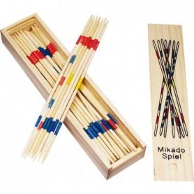 Jeu de 41 Mikado dans leur Coffret en Bois 19 x 4 x 2,5 cm