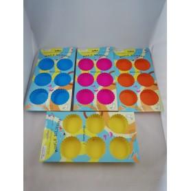 Lot de 2 X Moule à tartelette x6 moules tartelettes en silicone souple 3 couleurs