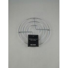 Lot de 2 X Dessous de plat en métal chromé diamètre 18 cm