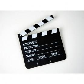 Clap de Metteur en Scène Volet de Film Action Coupez Hollywood 18 x 20 cm