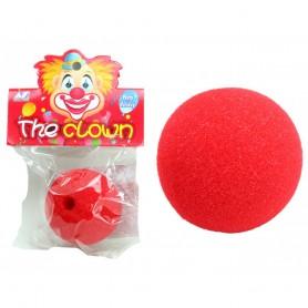 Nez de Clown Rouge 45mm Mousse Déguisement Costume Carnaval Fête Farces
