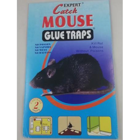 2x Piège à Souris à Glue Non Toxique Anti Rat Rongeur Souricière Adhésive