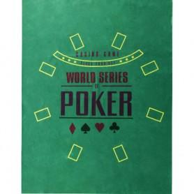 Lot de 2X Tapis de Poker en Polyester 60 x 90 cm Texas Hold'em Omaha Stud