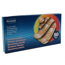 50 Pansements Adhésifs Perméables à l'Air Sticking Plaster Assortiment