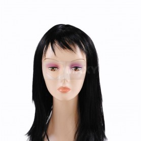 Perruque pour Femme Longs Cheveux Noirs Raides 65 cm Synthétiques
