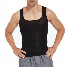 Maillot de Corps Moulant T-Shirt Silhouette Musclée Abdos Amincissant Homme