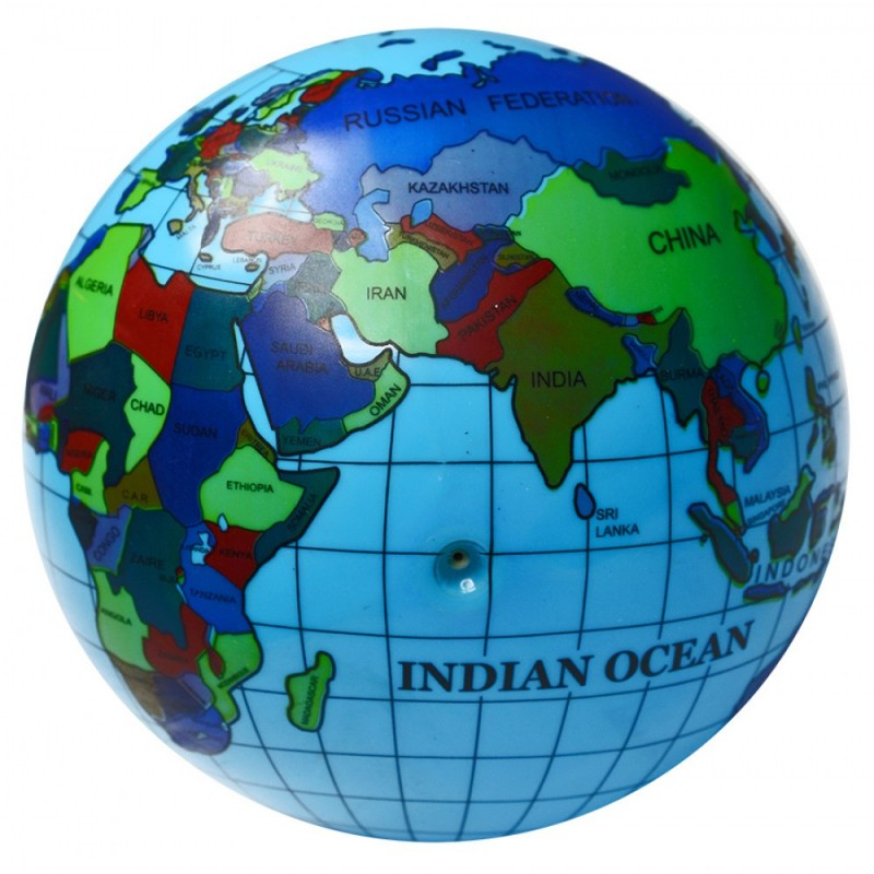 Ballon 20 cm Globe Terrestre Mappemonde Map Monde Planète Terre