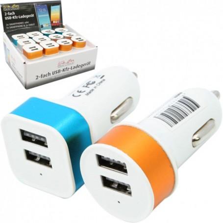 Chargeur Double Prise USB 2,1A Universel Adaptateur Allume Cigare Voiture Auto