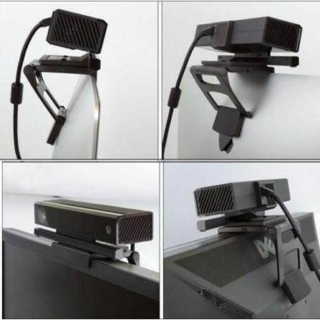 Support Clip de Fixation TV pour Xbox Kinect Pince de Fixation Noire