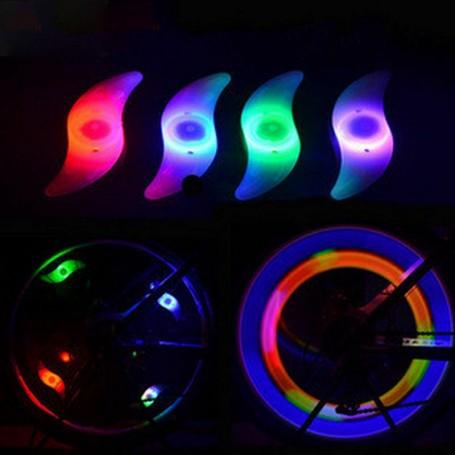 Eclairage LED Rayons de Vélo Réflecteur Lumière Multicolore Sécurité Clignotant