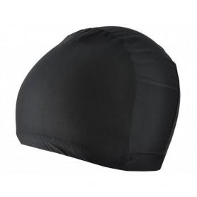 Bonnet de Bain Piscine Natation Noir en Tissu pour Enfant Mixte Unisexe