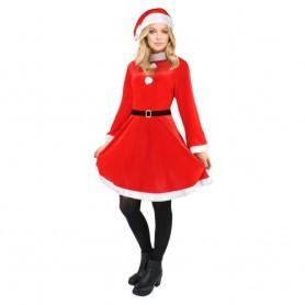 3pcs Costume Mère Noël Déguisement de Maman Noel Taille Unique Ajustable