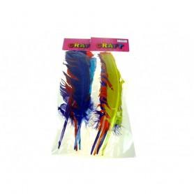 4 Longues Plumes Colorées 32cm 14G Loisirs Créatifs Décoration Fête