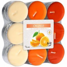 18 Bougies Chauffe-Plat Senteur Orange Parfum d'Ambiance Intérieur