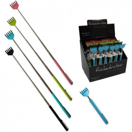 Gratte Dos Télescopique Grattoir Extensible 16-51cm 4 Couleurs + Attache