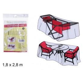 Bache de Protection Imperméable 1,8x2,8M Mobilier de Jardin Barbecue Banc Table